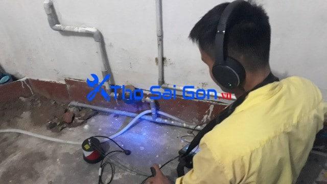 Dò tìm nước rỉ ống sắt ống chữa cháy tại TP hồ Chí Minh