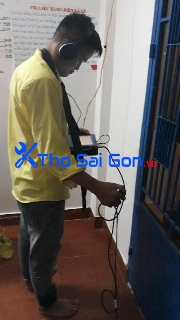 xử lý nước âm thất thoát tại chung cư Bình Thạnh dò nước âm thất thoát tại Tp HCM